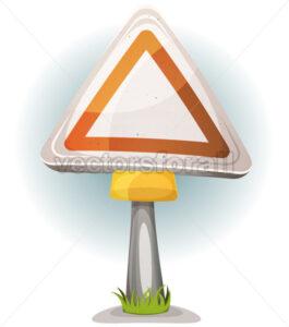 Cartoon Blank Road Sign - Vectorsforall
