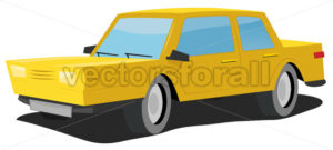 Cartoon Car - Vectorsforall