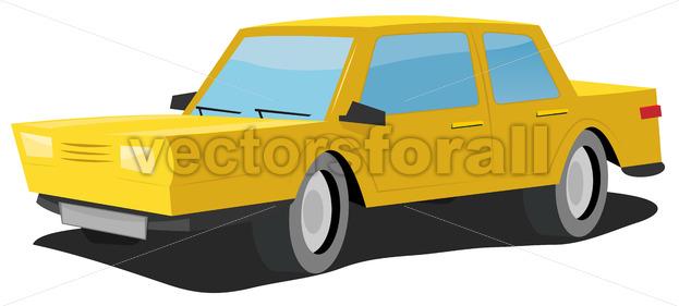 Cartoon Car - Vectorsforall