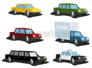 Cartoon Cars Set - Vectorsforall