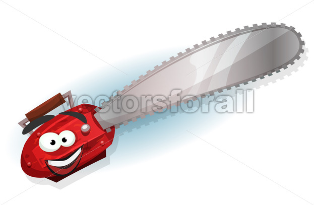Cartoon Chainsaw Character - Vectorsforall