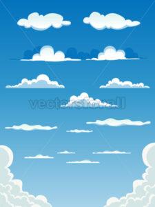 Cartoon Clouds Set - Vectorsforall