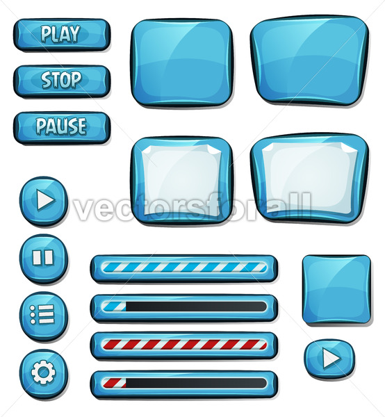 Cartoon Diamonds Elements For Ui Game - Vectorsforall