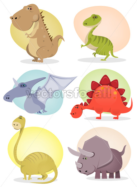 Cartoon Dinosaur Collection - Vectorsforall