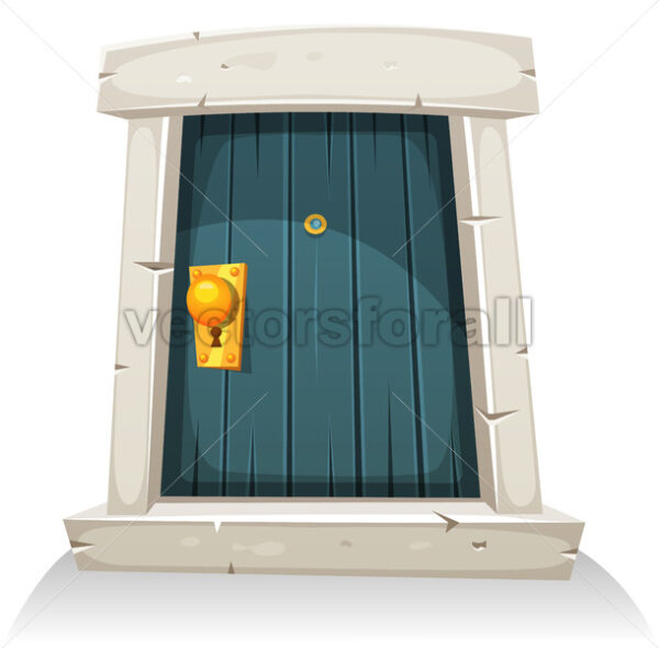 Cartoon Door - Vectorsforall