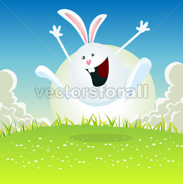 Cartoon Easter Bunny - Vectorsforall