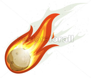 Cartoon Fireball And Comet - Vectorsforall