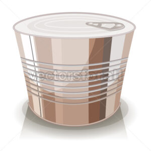 Cartoon Food Tin Can - Vectorsforall