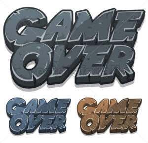 Cartoon Game Over Icon For Ui Game - Vectorsforall