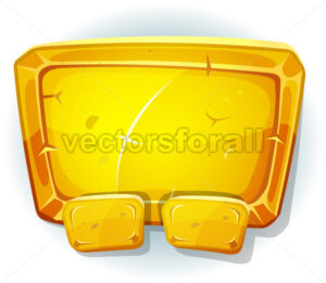 Cartoon Gold Sign For Ui Game - Vectorsforall