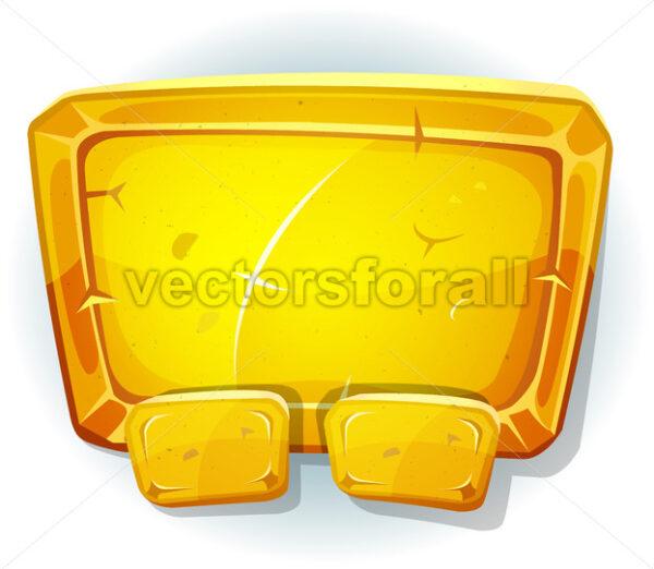 Cartoon Gold Sign For Ui Game - Vectorsforall