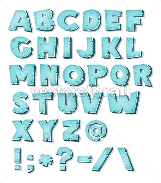 Cartoon Ice Alphabet - Vectorsforall
