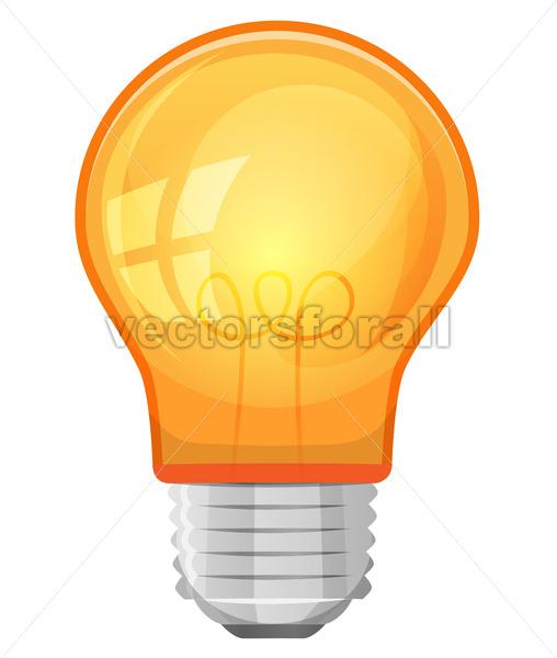 Cartoon Light Bulb - Vectorsforall