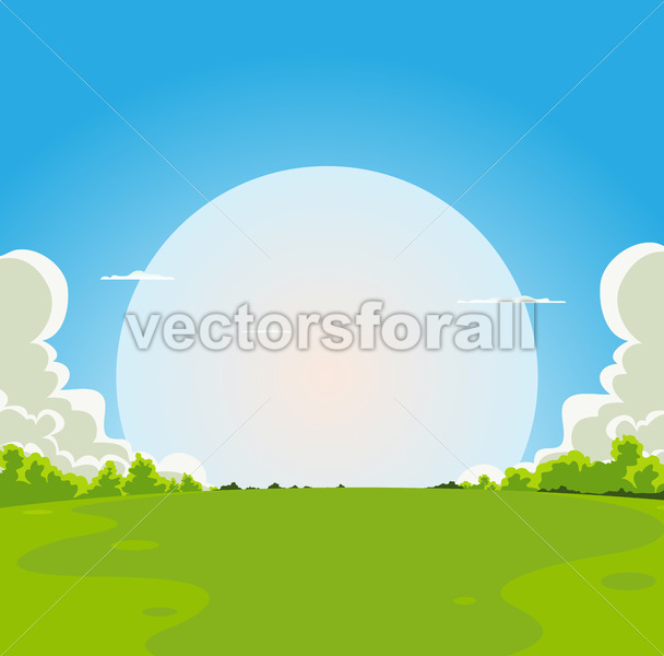 Cartoon Moonrise Background - Vectorsforall
