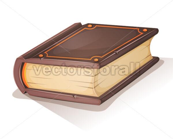 Cartoon Old Book - Vectorsforall
