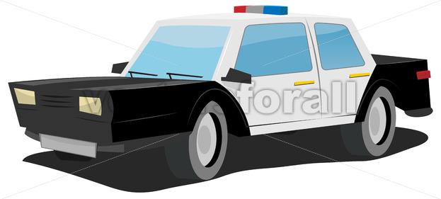 Cartoon Police Car - Vectorsforall