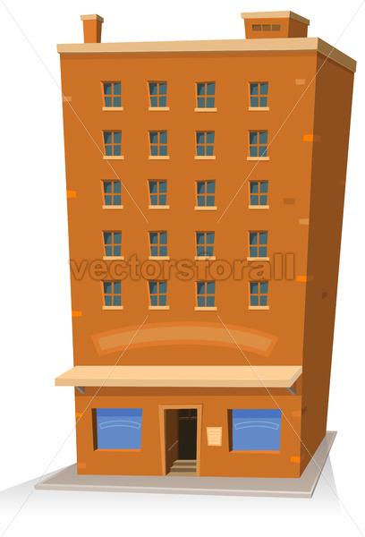 Cartoon Shop Building - Vectorsforall