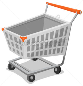 Cartoon Shopping Cart - Vectorsforall