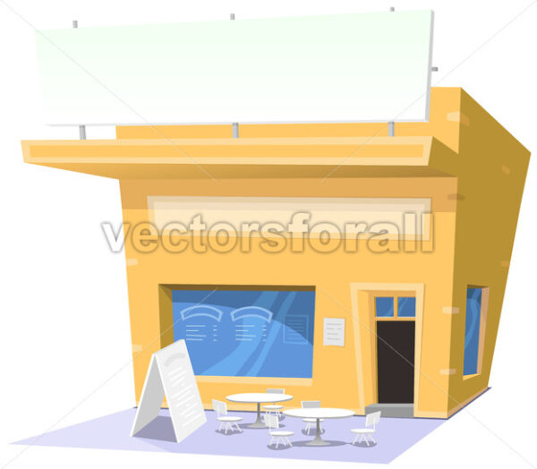 Cartoon Snack Restaurant - Vectorsforall