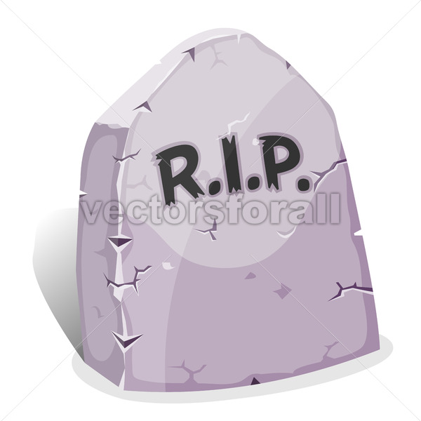 Cartoon Tombstone With RIP - Vectorsforall