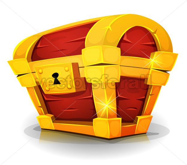 Cartoon Treasure Chest For Game Ui - Vectorsforall
