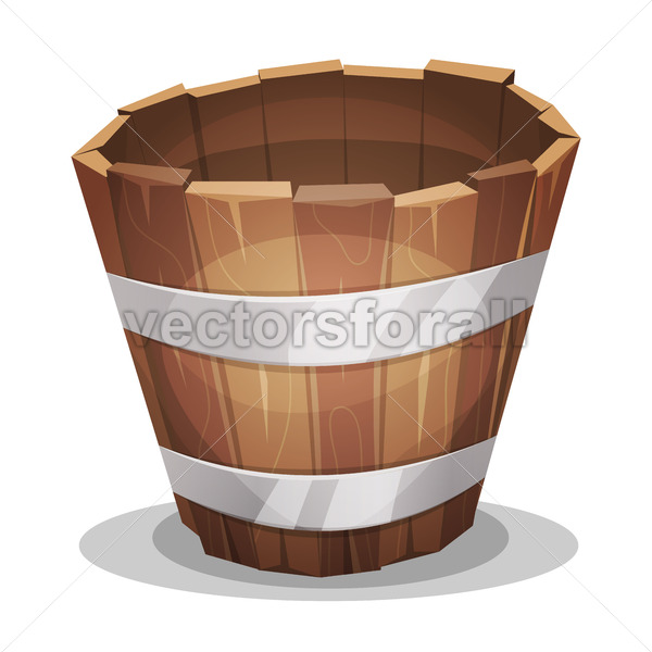 Cartoon Wood Bucket - Vectorsforall