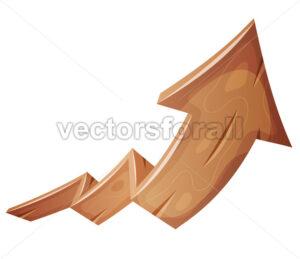 Cartoon Wood Rising Arrow - Vectorsforall
