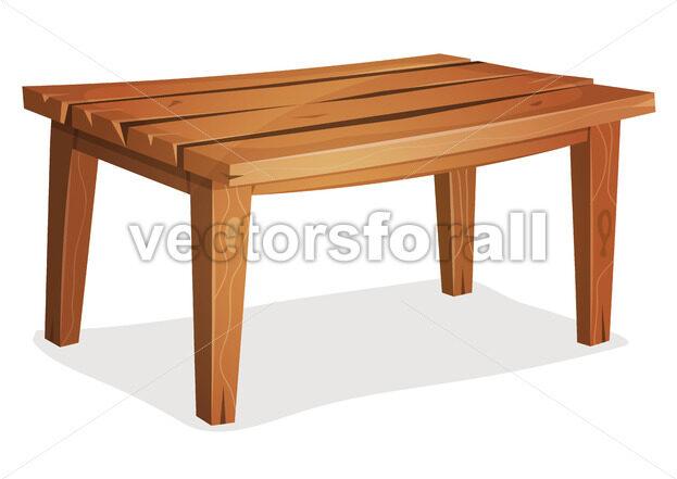 Cartoon Wood Table - Vectorsforall