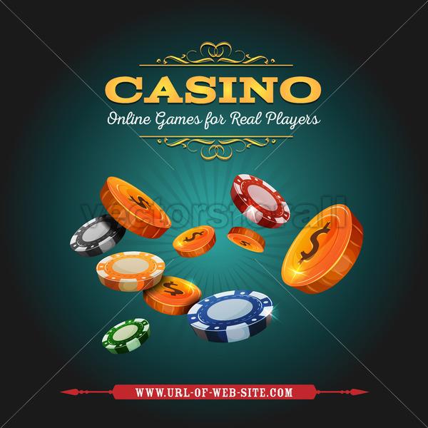 Casino And Gambling Background - Vectorsforall