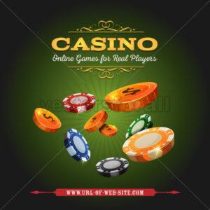 Casino Online Background - Vectorsforall