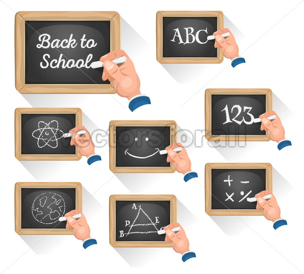 Chalkboard Signs For School Reentry - Vectorsforall