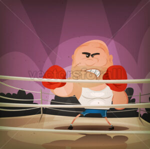 Champion Boxer On The Ring - Vectorsforall