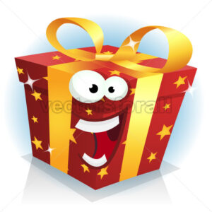 Christmas And Birthday Gift Box Character - Vectorsforall
