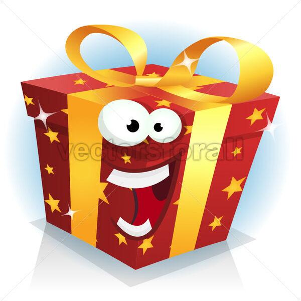 Christmas And Birthday Gift Box Character - Vectorsforall