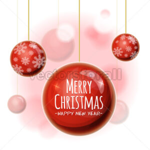 Christmas Background With Balls - Vectorsforall