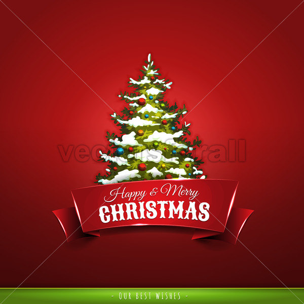 Christmas Greeting Card - Vectorsforall