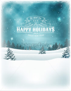 Christmas Holidays Landscape Background - Vectorsforall