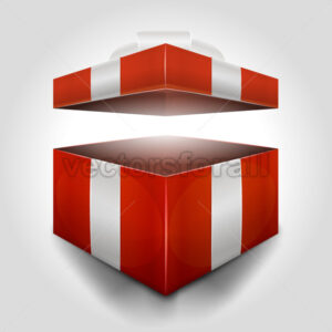 Christmas Open Gift Box - Vectorsforall