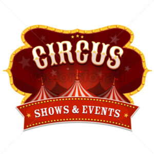 Circus Banner With Big Top - Vectorsforall