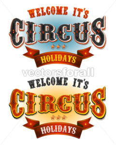 Circus Holidays Welcome Banners - Vectorsforall