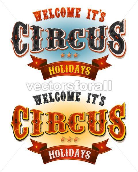 Circus Holidays Welcome Banners - Vectorsforall