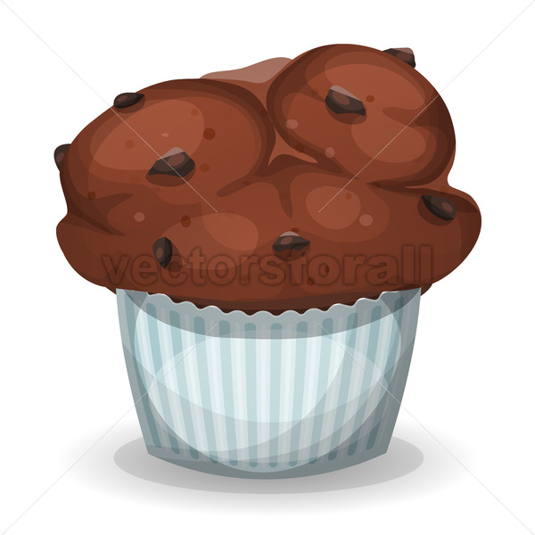 Classic American Muffin With Chocolate Chips - Vectorsforall