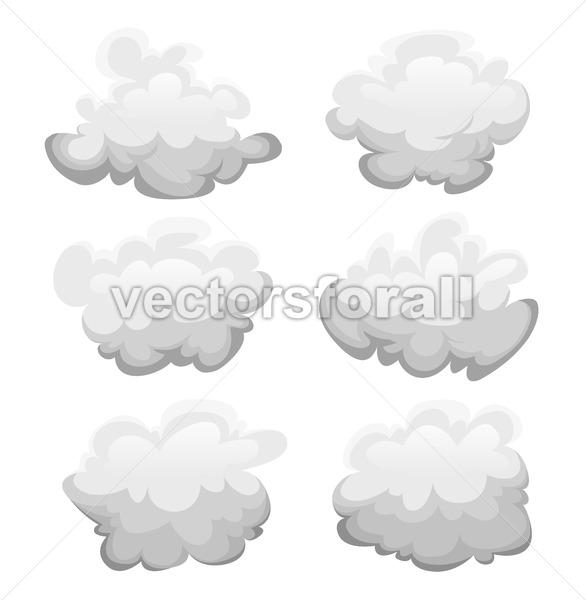 Clouds Set - Vectorsforall