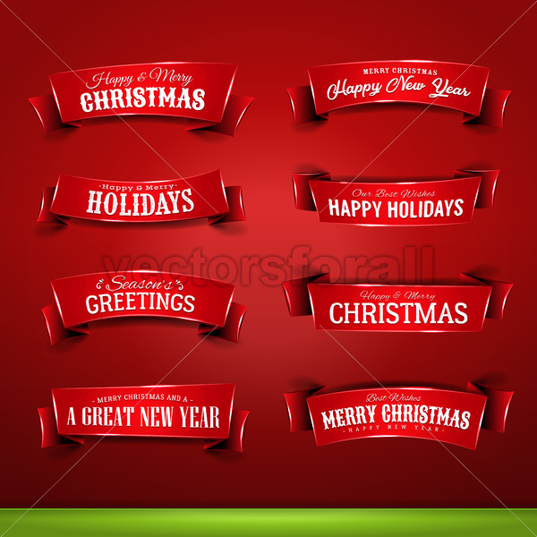 Collection of Christmas And New Year Banners - Vectorsforall