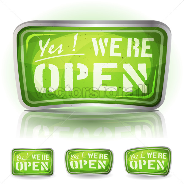 Come In We're Open Sign - Vectorsforall
