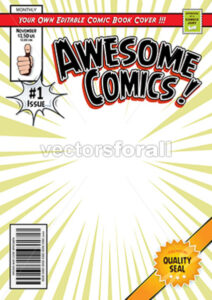 Comic Book Cover Template - Vectorsforall