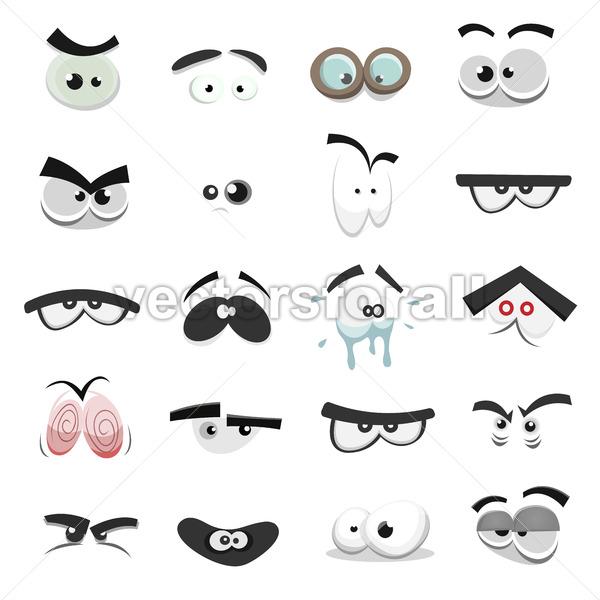 Comic Eyes Set - Vectorsforall