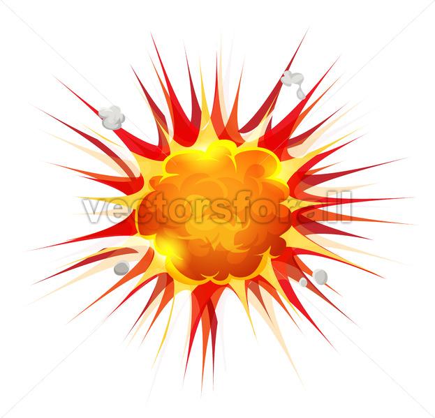 Comic Firebomb Explosion - Vectorsforall