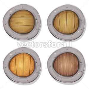 Comic Rounded Viking Shields - Vectorsforall