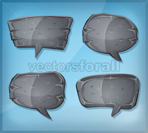 Comic Stone Speech Bubbles - Vectorsforall